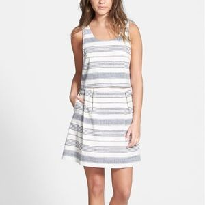 Madewell Striped Overlay Dress Size 6